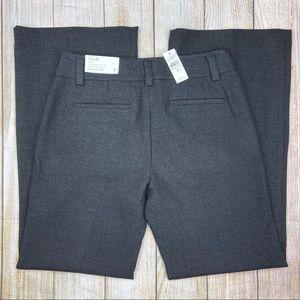 New LOFT Gray Julie Curvy Trouser Leg Dress Pants